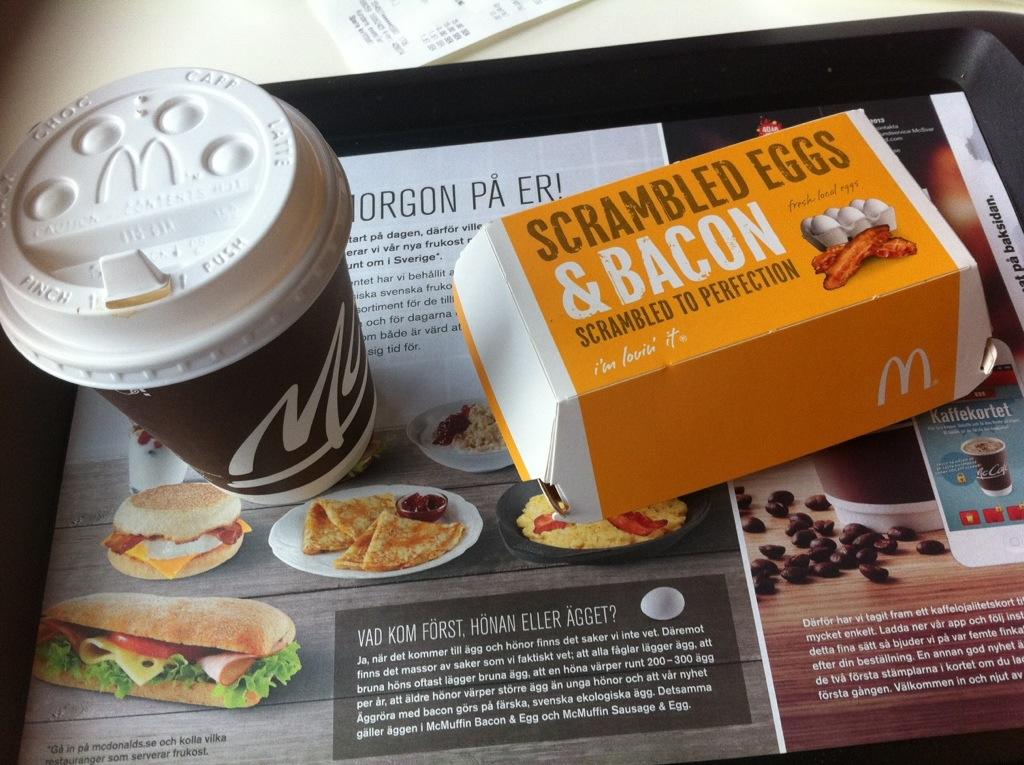 mcdonalds frukost priser